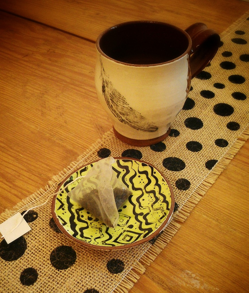 Mini Stacking bowl w/ tea bag and Mug