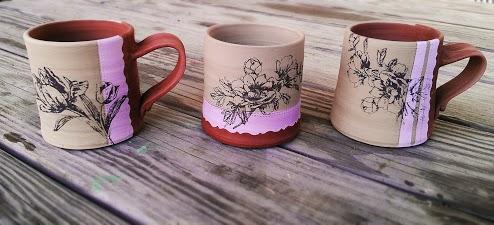 Screen printed mugs!