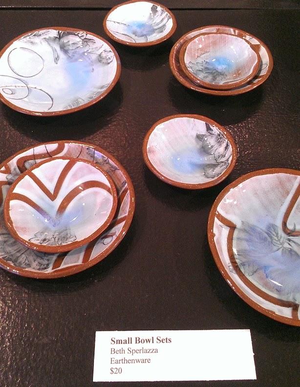Mini Blue Floral Bowls