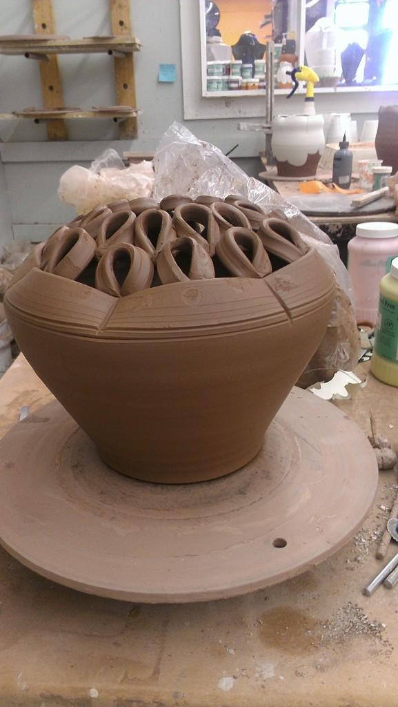First flower brick/vase hybrid